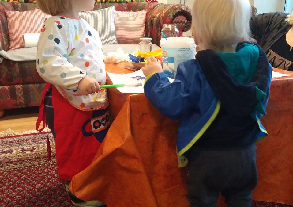 Basteln mit den Kleinsten im Café Else