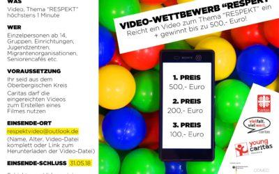 Videowettbewerb zum Thema Respekt und kostenlose Workshops